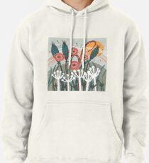 Meadow Breeze Floral Illustration Pullover Hoodie
