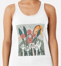 Meadow Breeze Floral Illustration Racerback Tank Top
