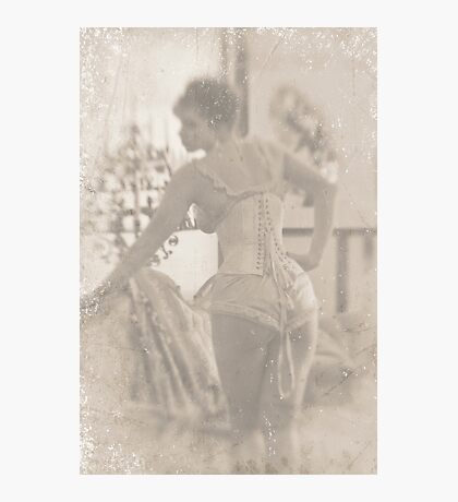 ~ woman in laced corset ~ Photographic Print