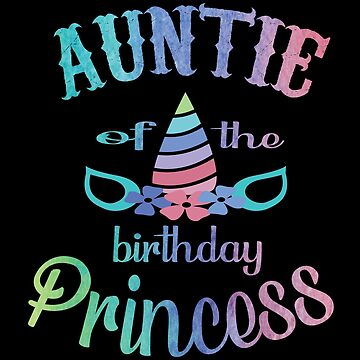 Aunt Of The Birthday Princess Unicorn Mermaid For Auntie by Grabitees