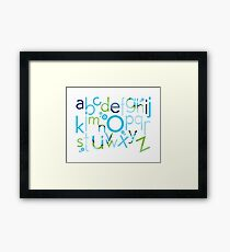 TYPOGRAPHY :: trendy alphabet 2 Framed Print