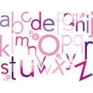 TYPOGRAPHY :: trendy alphabet 4 by Kat Massard