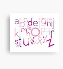 TYPOGRAPHY :: trendy alphabet 4 Canvas Print