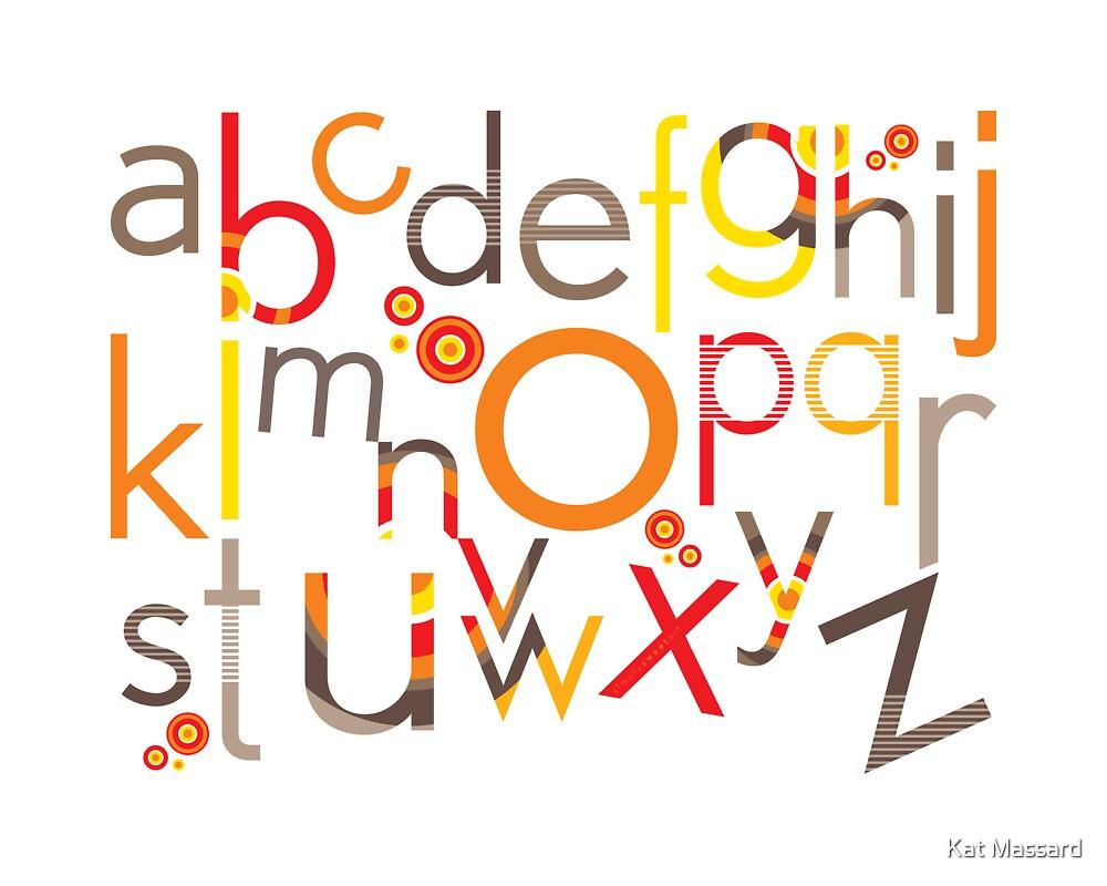 TYPOGRAPHY :: trendy alphabet 5 by Kat Massard