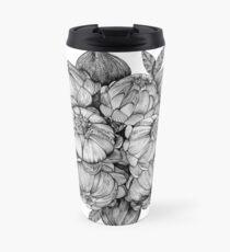 black flowers Travel Mug