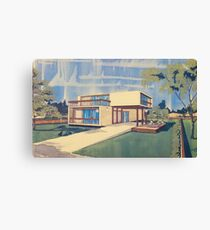 Modular block double floors Canvas Print