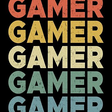 Gamer Retro Vintage Cool Gaming Geek Fathers Day Gift by JapaneseInkArt