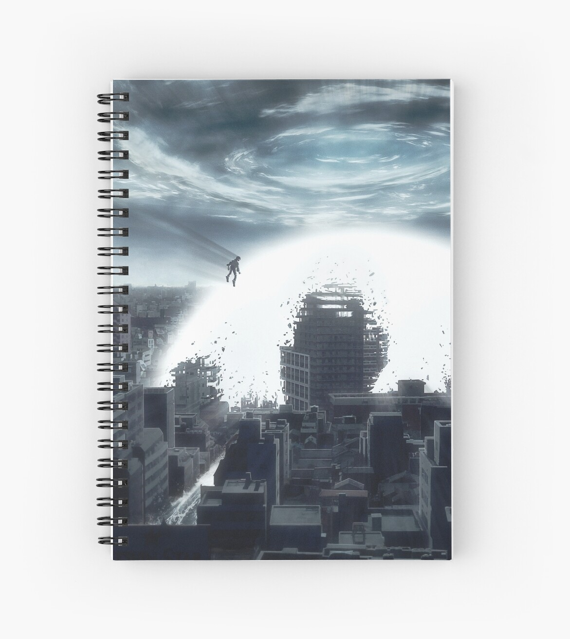 The Beginning Of The End Akira Tribute Spiral Notebook By Rowye Redbubble