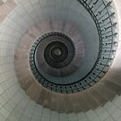 Spiral staircase I'le Vierge Lighthouse, Brittany, France by Jonathan Maddock