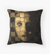 My checkered past. Throw Pillow