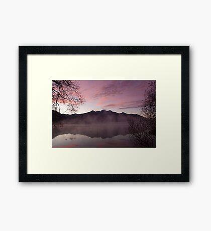 Pink dawn, KInloch NZ Framed Print