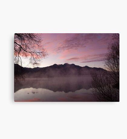 Pink dawn, KInloch NZ Canvas Print
