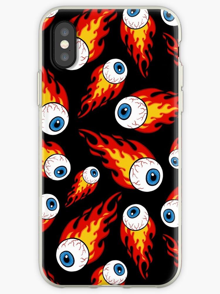 Flaming Eyeball Pattern by Diane LeonardArt