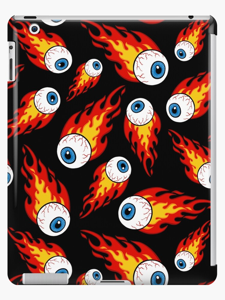 Flammendes Augapfel-Muster von Diane LeonardArt
