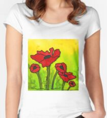 Doing The Poppy Shuffle Women's Fitted Scoop T-Shirt