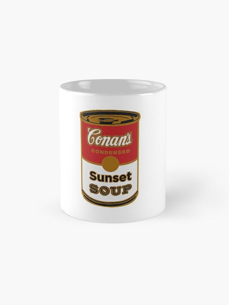 Alternative Ansicht von conan graue Sonnenuntergangsuppe Tassen