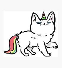 Einhornkatzenkätzchen Caticorn, der super cool sein will Fotodruck