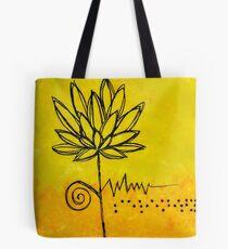 Blindenschrift-abstrakte Kunst-Ruhe Tote Bag