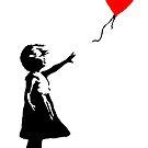"""Banksy - """"Mädchen mit Ballon von streetartfans"""