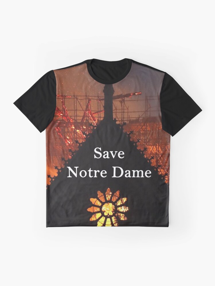 Alternate view of Save Notre Dame Cathedral Graphic T-Shirt