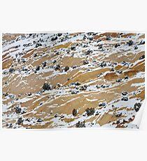 Sandstone & Snow Poster
