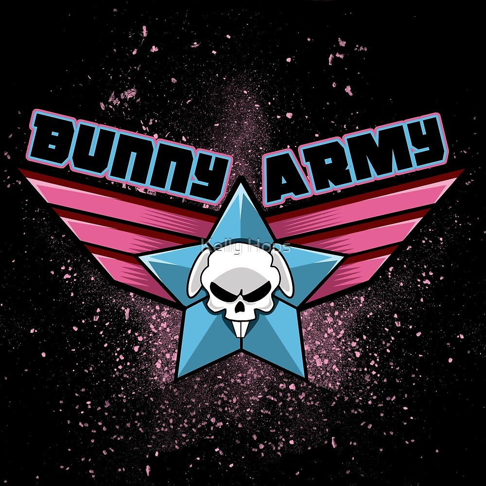 Bunny Army by Kelly Hops