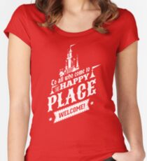 Magic Kingdom - Walt's Happy Place Women's Fitted Scoop T-Shirt