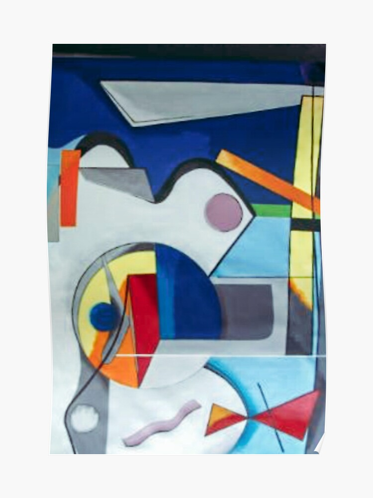 Abstract Painting Of Shapes Modern Art Poster