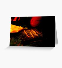 White Lines and Red Lights Greeting Card