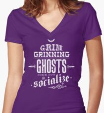 Haunted Mansion - Grim Grinning Ghosts Women's Fitted V-Neck T-Shirt