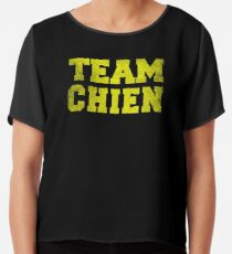 Team Chien, Yellow, Chiffon Top