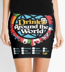 Drink Around the World - EPCOT Checklist v1 Mini Skirt