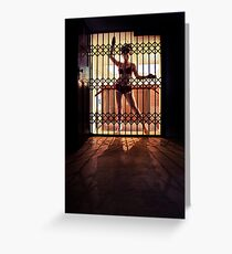 ...I like to rattle the cage... Greeting Card