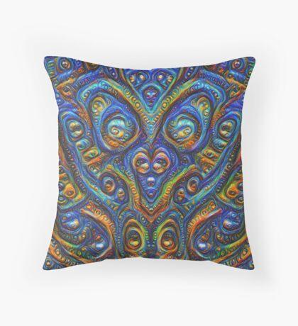 Summer night #DeepDream B Throw Pillow
