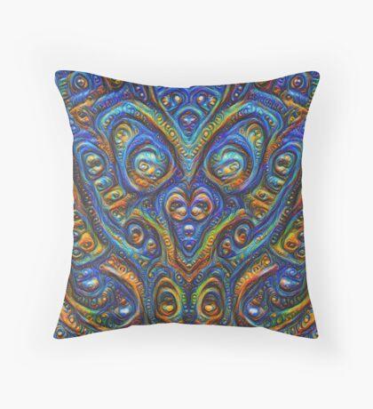 Summer night #DeepDream B Floor Pillow