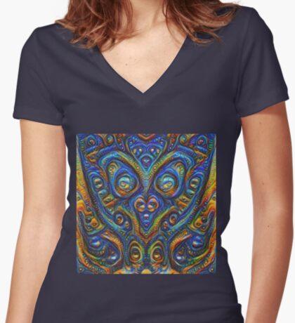 Summer night #DeepDream B Fitted V-Neck T-Shirt