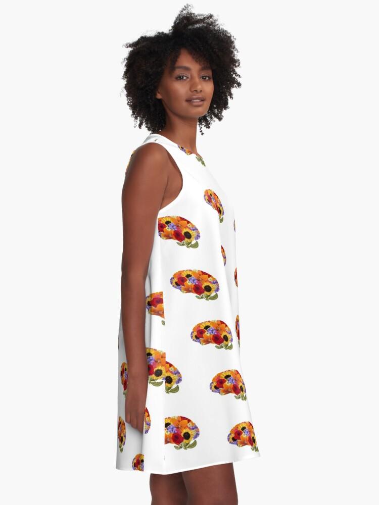 Alternate view of Think Spring Brain  A-Line Dress