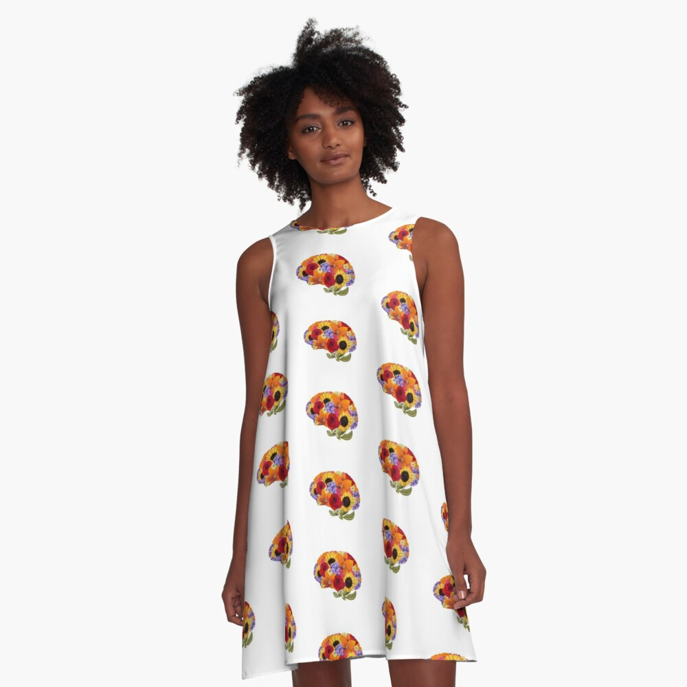 Think Spring Brain  A-Line Dress