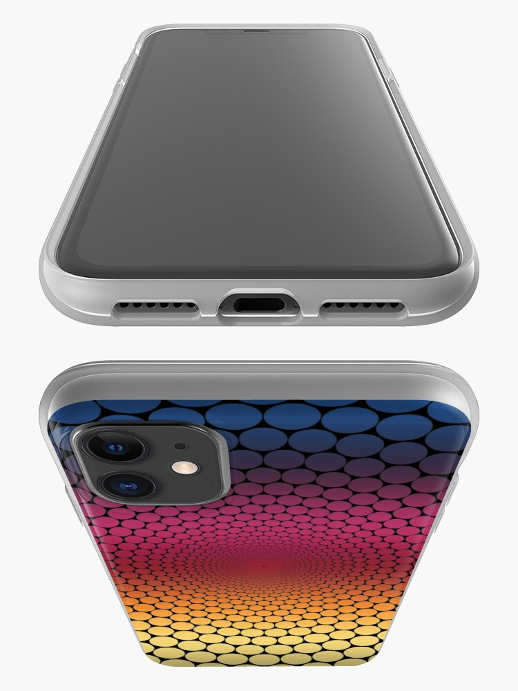 Alternate view of Optical Illusion Linear Gradient (Black) iPhone Case & Cover
