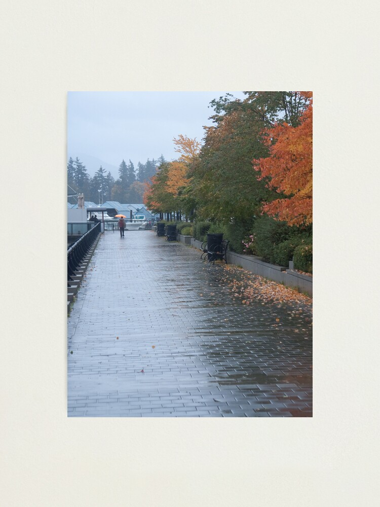 Alternate view of Heading home in the rain, Vancouver, Canada, 2007 Photographic Print