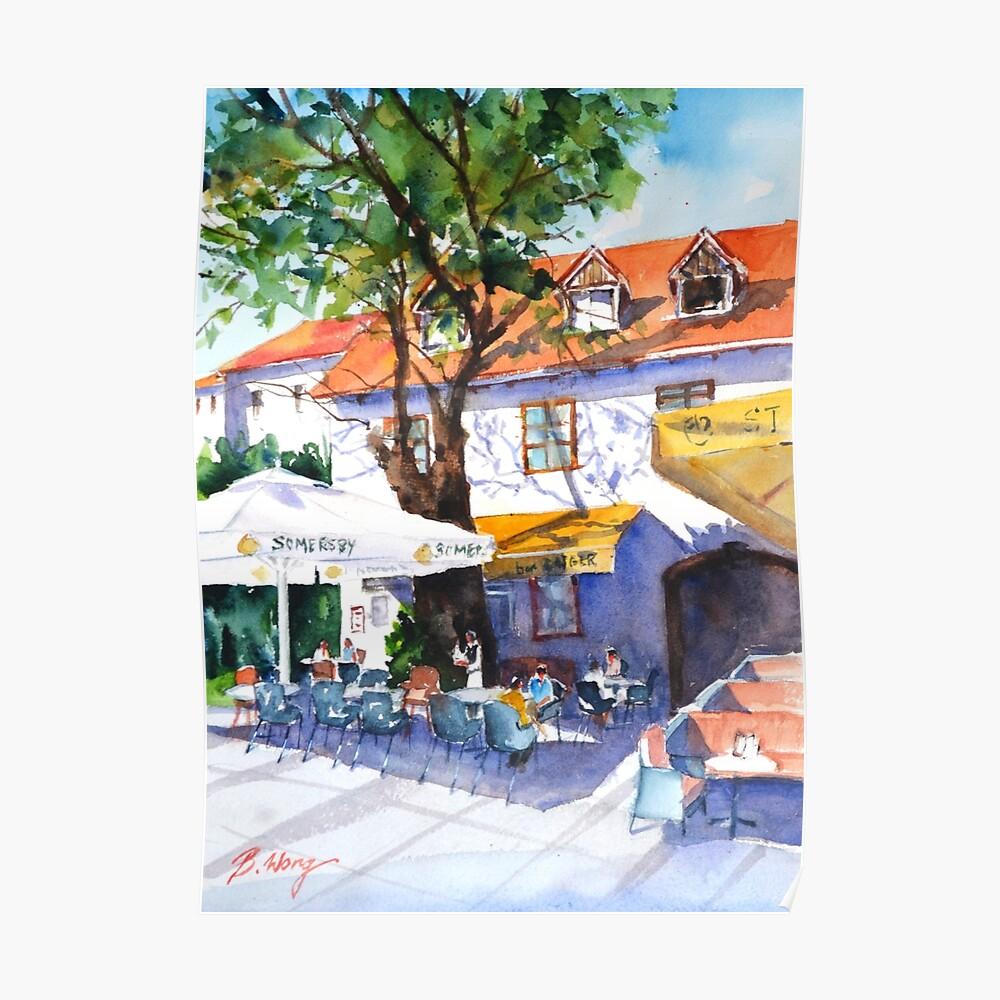 Zagreb cafe #3 Poster