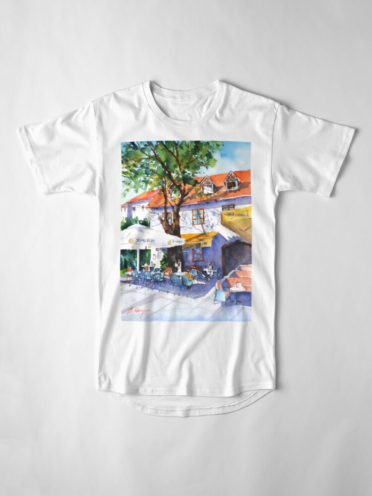 Alternate view of Zagreb cafe #3 Long T-Shirt