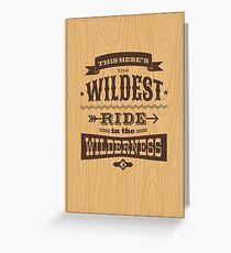 Big Thunder - Woody Greeting Card