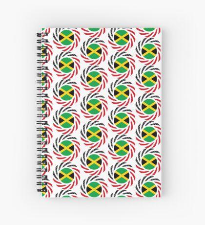 Jamaican American Multinational Patriot Flag Series Spiral Notebook