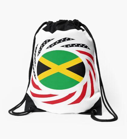Jamaican American Multinational Patriot Flag Series Drawstring Bag