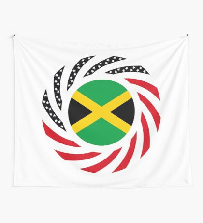 Jamaican American Multinational Patriot Flag Series Wall Tapestry