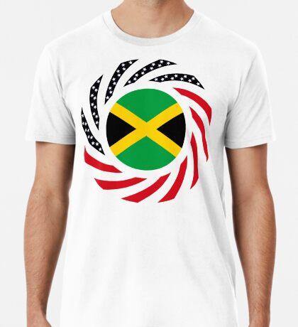 Jamaican American Multinational Patriot Flag Series Premium T-Shirt