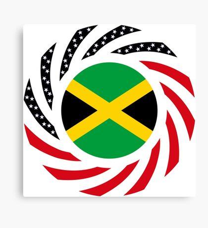 Jamaican American Multinational Patriot Flag Series Canvas Print