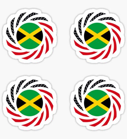 Jamaican American Multinational Patriot Flag Series Sticker