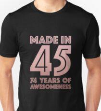 74th Birthday Gift Adult Age 74 Year Old Women Grandma Mom Slim Fit T-Shirt